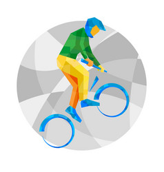 Cycling bmx with abstract patterns vector