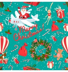 Festive christmas and new year seamless pattern in vector