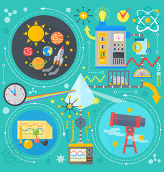 flat design concept of science and technology vector image vector image