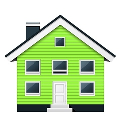 Green scandinavian condominium - townhouse vector