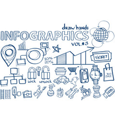 hand draw infographics vol 3 marketing vector image