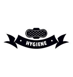 Hygiene wound logo simple black style vector