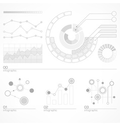 Infographic elements in grey vector image vector image