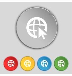 Internet sign icon world wide web symbol cursor vector
