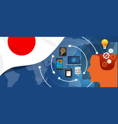 japan it information technology digital vector image vector image