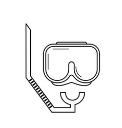 Line diving mask to be underwater adventure vector