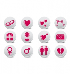 love buttons vector image