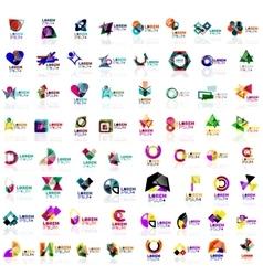 Mega set of geometrical abstract logos vector