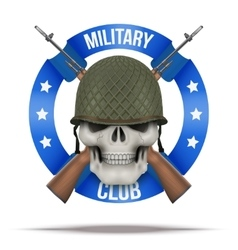 Military club or company badges and labels vector image