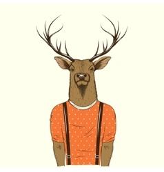 Modern deer hipster vector