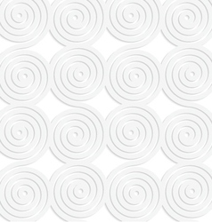 Paper white merging spirals vector image vector image