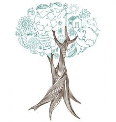 peace tree vector image