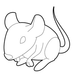 rat icon outline style vector image