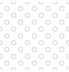 Seamless monochrome circle pattern - simple vector