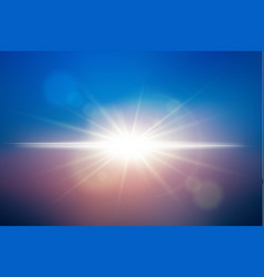 sunlight background vector image