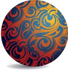 Swirl pattern sphere vector image
