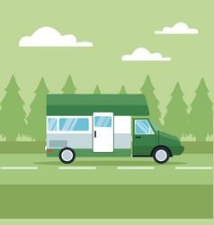 vehicle in highway vector image