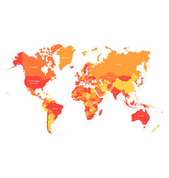world map with countries borders abstract red and vector image