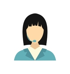 Dispatcher icon in flat style vector