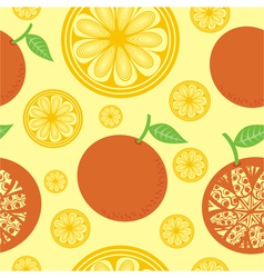 Orange seamless pattern background vector image