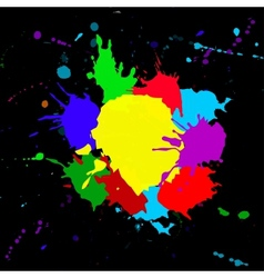 Colorful splashesh isoleted on black bacground vector