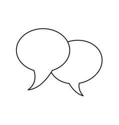 Bubble speech communication dialog thin line vector