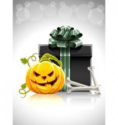 Halloween gift vector image