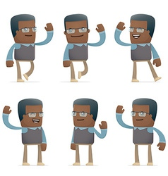 Set of teacher character in different poses vector