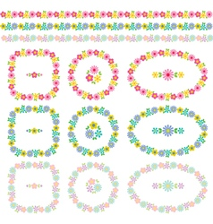 Floral frames and borders vector