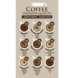 Coffee price vector