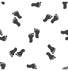 Footprint pattern vector