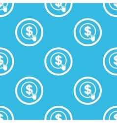 Dollar click sign blue pattern vector