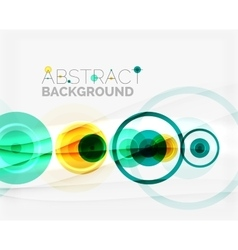 Circle geometric shape composition vector