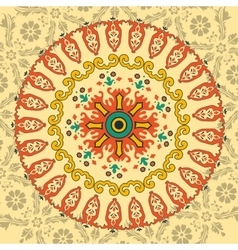 Circle ornament with many details vector