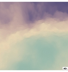 Blue sky with clouds mosaic vector