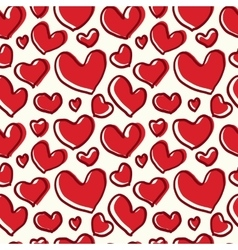 Pattern red heart with a thick line vector