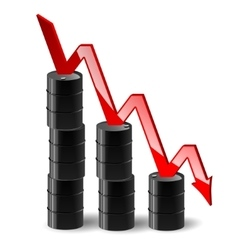 stacks of barrels oil and reduce the cost schedule vector image