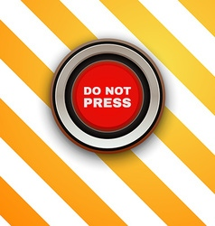 Industrial red button do not press vector