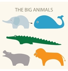 A set of of big animals vector image vector image