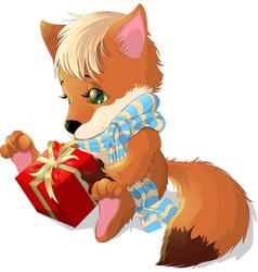 Beautiful fox vector