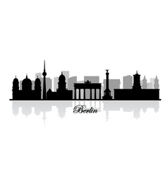 Berlin skyline silhouette vector