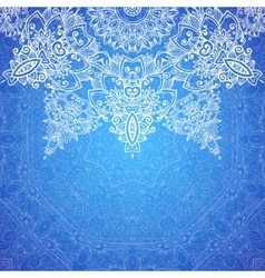 Blue ornate vintage wedding card background vector
