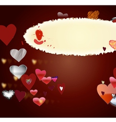 Card by St Valentines Day1 vector image vector image