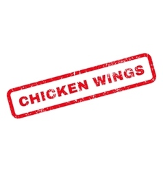 Chicken Wings Text Rubber Stamp vector image vector image