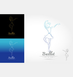 classical ballet logo vector image