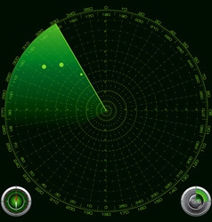 Detailed of a Radar Screen vector image vector image