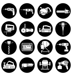 Electric power tools set vector