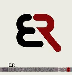 Er logo monogram vector