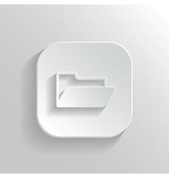 Folder icon - white app button vector image vector image