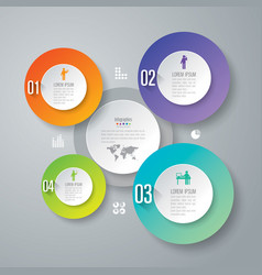 infographics design with 4 step vector image vector image